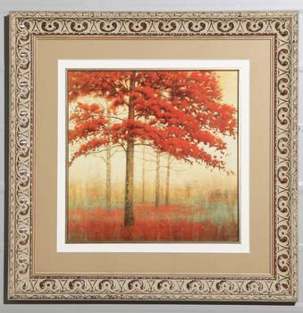Markor furnishings decorative photo frames painted Maple Leaf Chinese Restaurant red cardboard paintings