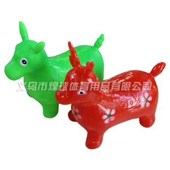 The supply of bold thickening printing jumping horse jumping deer toys inflatable sports toys wholesale