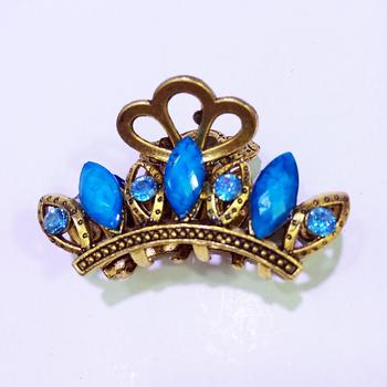 Korea hair accessories hairpin rhinestone catch holder Palace vintage small medium scratch clip imitation precious little scratch