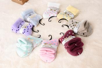 Manufacturers supply the new winter warm super soft thickened dot Terry women's socks 9017.