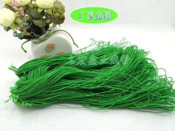 Green colored elastic bands elastic rope tag lines 1MM crafts and accessories factory direct