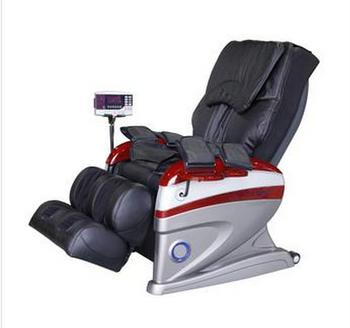 Luxury Massage Chair, remote control, electronic display control, leather seat covers.