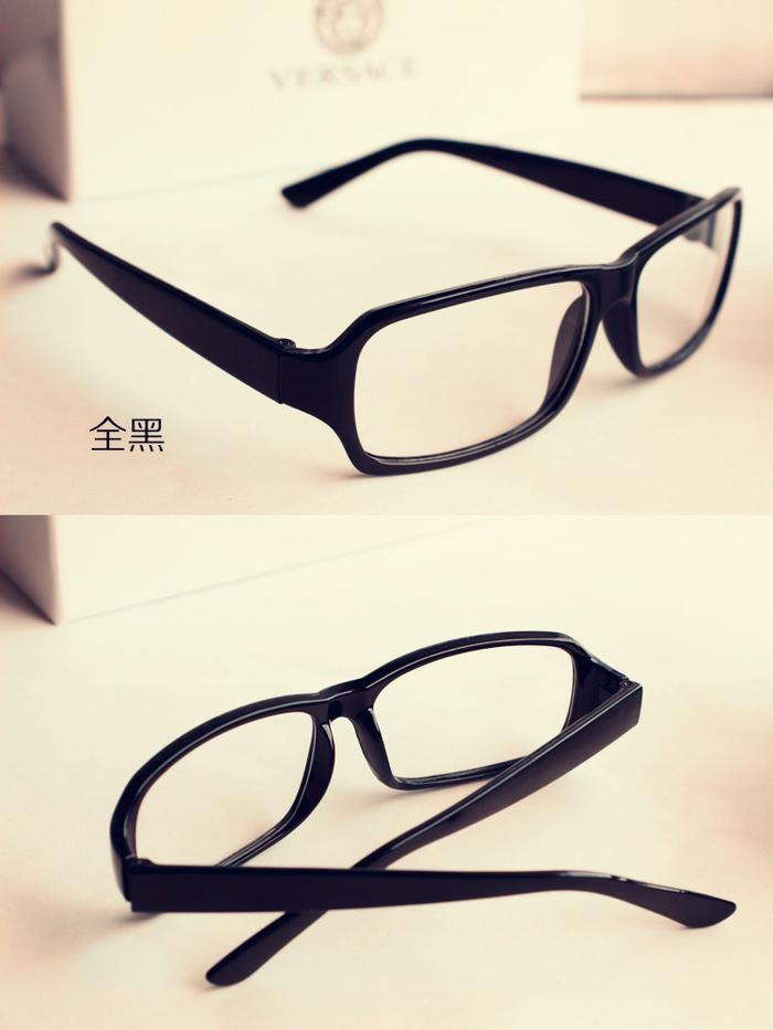 Supply Korean version of the retro black-frame glasses ...