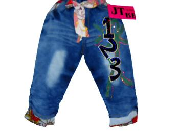 Wear and summer jeans pants ragazza Bai took the Cowboys, Korean jeans cotton cropped trousers