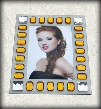 Hot Glass picture frames mosaic acrylic imitation gems photo frame