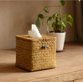 Non-Wicker Willow handmade straw paper holder paper towel tray paper towel tube