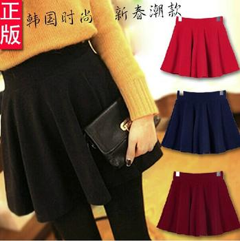 14006-5 autumn and winter high-waisted pleated skirt pettiskirt Tutu skirt girls slim