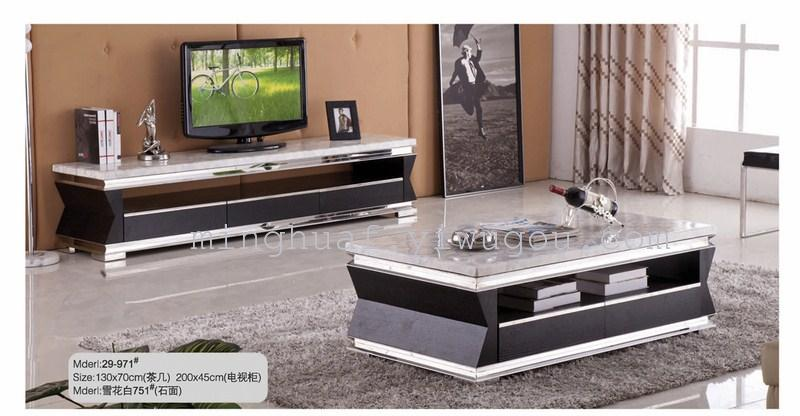 Supply Luxury high quality marble, solid wood coffee table TV stand-