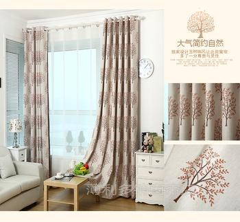 Factory direct sale cotton yarn-dyed Jacquard curtain fabric offer zero-cut finished product processing