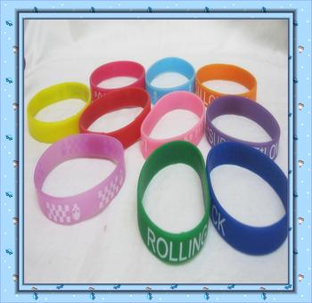 Silicone bracelet 1.2CM silicone bracelets donations, gifts and toys