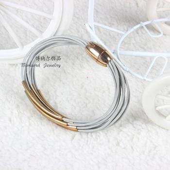 leather bracelets with magnetic buckle
