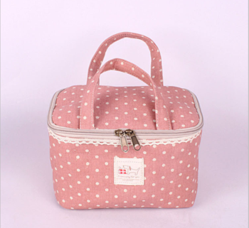 Home zakka cotton pair of bras, lingerie fabric portable multi-functional cosmetic bag