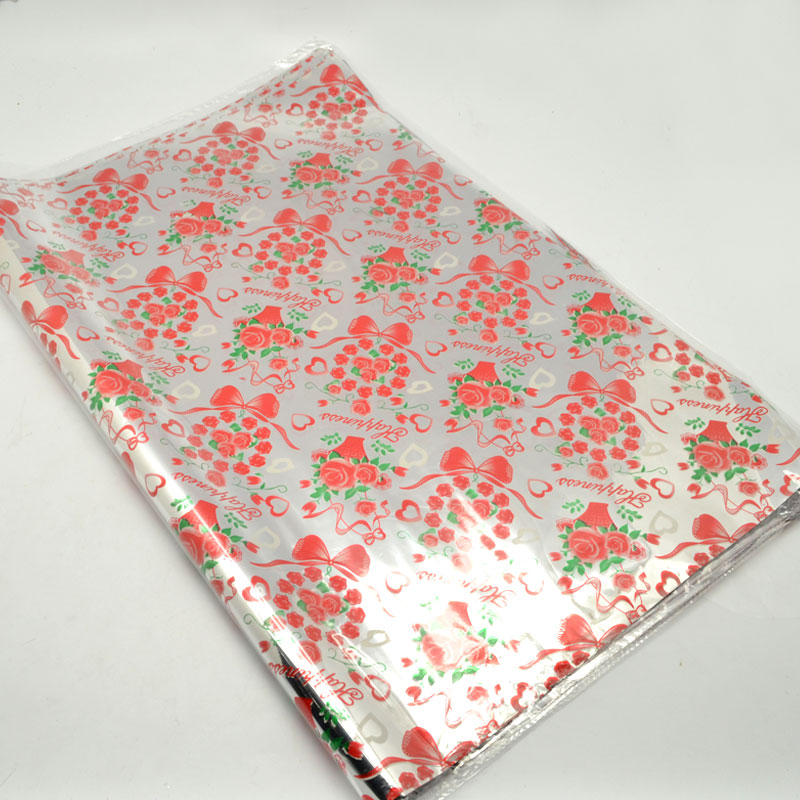 Supply  Strange color products factory direct  rose colored plastic OPP wrapping paper gift wrap- & Supply