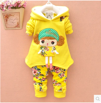 Girls suits padded child baby girls clothing autumn/winter coat women David sports out of clothes