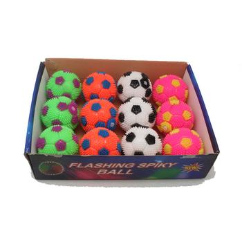 6.5 TPR toys called glowing fluffy ball soccer ball inflatable bounce