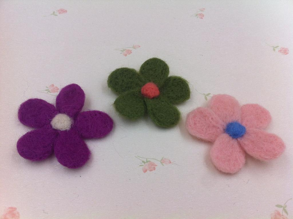 Supply wool felt poked fun handmade candy colored wool for Diy felt flower mobile