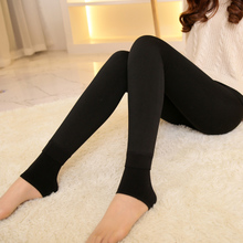 Fall/winter colorful cotton padded ladies tights pants stereoscopic slim seamless integrated warm air