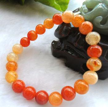 Dragon veins agate beads jewelry natural 8MM powder bracelet factory direct Beads Bracelet
