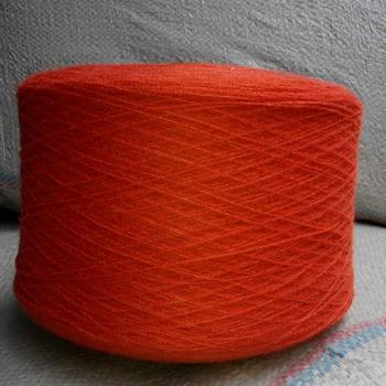 One of Wynn's knitting raw materials: cashmere Orange